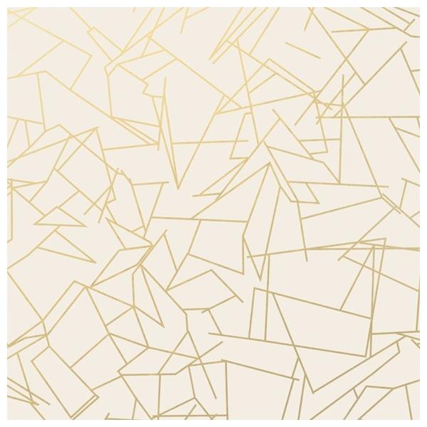 papier peint g om trique blanc angles gold cream erica. Black Bedroom Furniture Sets. Home Design Ideas