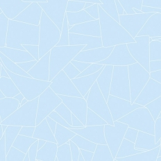 Papier peint - Erica Wakerly - Windmill - White / Blue