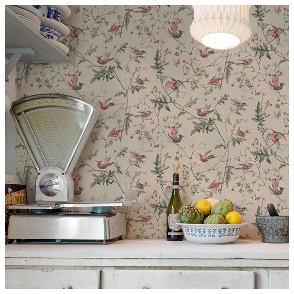 papier peint hummingbirds fond vert cole son. Black Bedroom Furniture Sets. Home Design Ideas