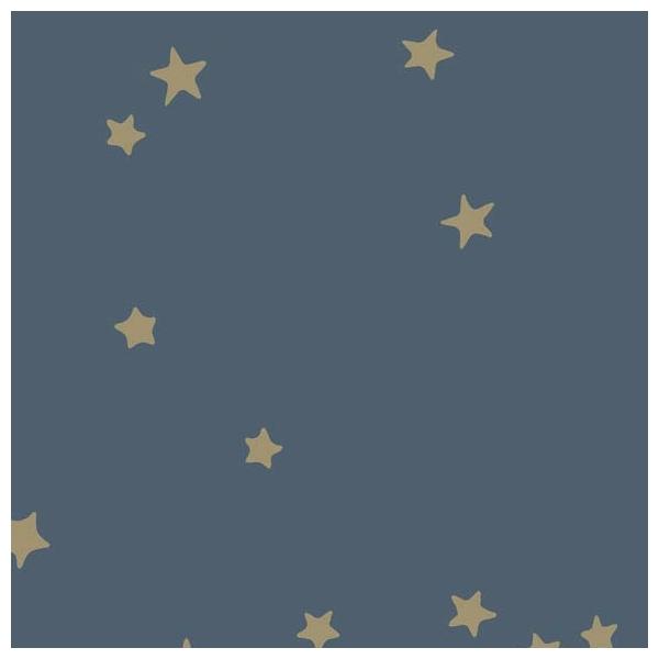 papier peint stars toiles dor es sur fond nuit. Black Bedroom Furniture Sets. Home Design Ideas