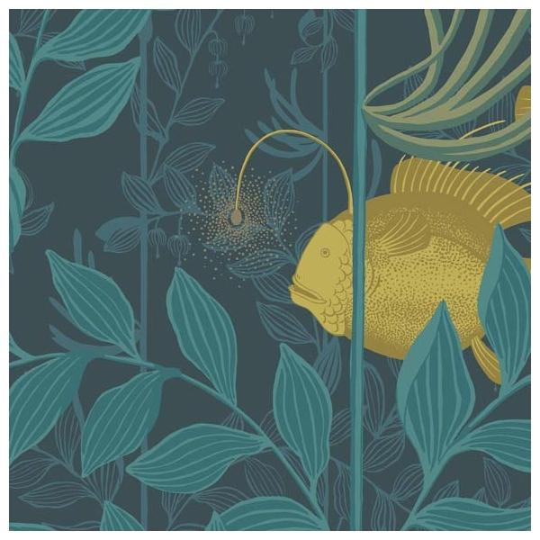 papier peint nautilus dark blue de cole son. Black Bedroom Furniture Sets. Home Design Ideas