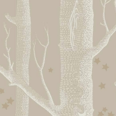 Papier peint - Cole and Son - Woods & Stars - Linen