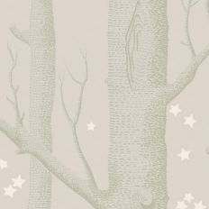 Papier peint - Cole and Son - Woods & Stars - Grey