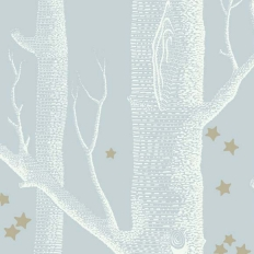 Papier peint - Cole and Son - Woods & Stars - Powder Blue