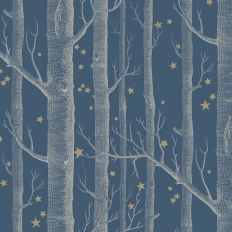 Papier peint - Cole and Son - Woods & Stars - Midnight