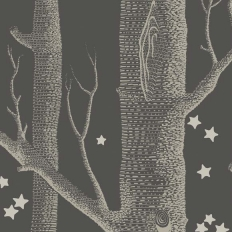 Papier peint - Cole and Son - Woods & Stars - Charcoal