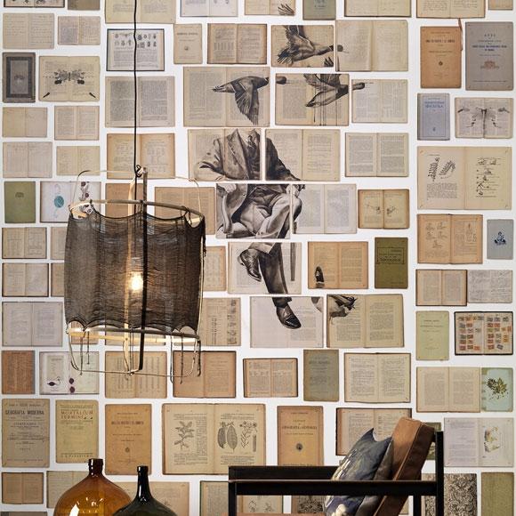 papier peint homme et canards biblioteca wallpaper. Black Bedroom Furniture Sets. Home Design Ideas
