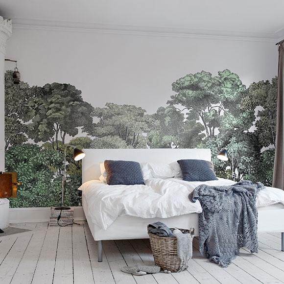 Papier peint bellowood for t verte for Tapisserie chambre parentale
