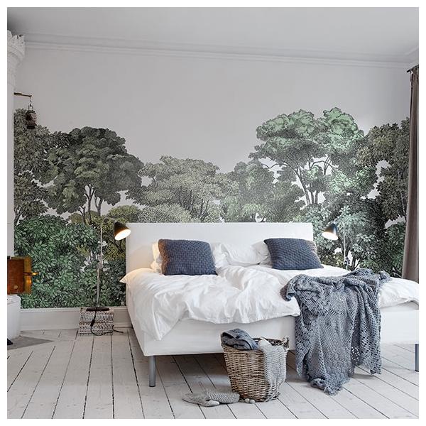 Papier peint Bellowood – forêt verte