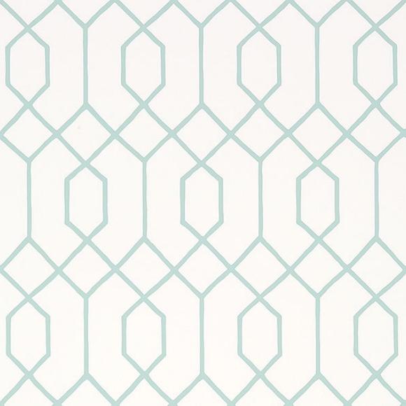 papier peint la farge imitation vitrail blanc et vert aqua. Black Bedroom Furniture Sets. Home Design Ideas