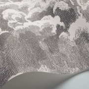 Papier peint - Cole and Son - Nuvolette - Black & White