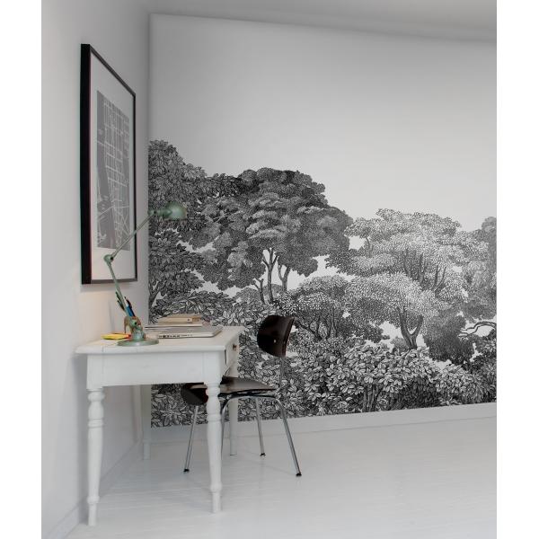 Papier Peint Foret Noir Et Blanc Blog De Conception De Maison