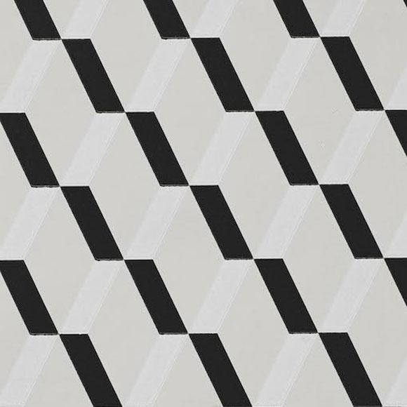 Papier peint rue montorgueil losange noir et blanc - Papier peint losange ...