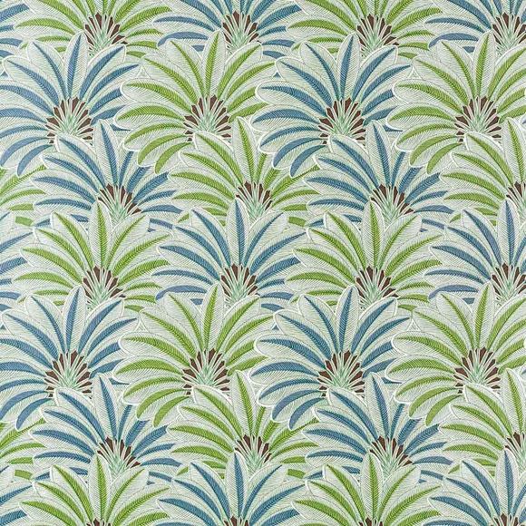 papier peint brazilia feuilles de palmier vertes et bleues. Black Bedroom Furniture Sets. Home Design Ideas