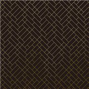 Papier peint - Erica Wakerly - Tapet Cafe Tile - Brown / Gold