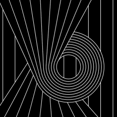 Papier peint - Erica Wakerly - Spiral - White / Black