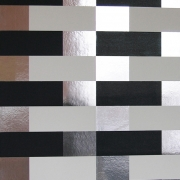 Papier peint - Erica Wakerly - Block - Black / White / Silver