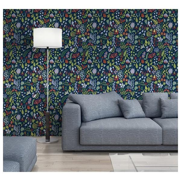papier peint champs de fleurs vert kejsarkrona au fil des couleurs. Black Bedroom Furniture Sets. Home Design Ideas
