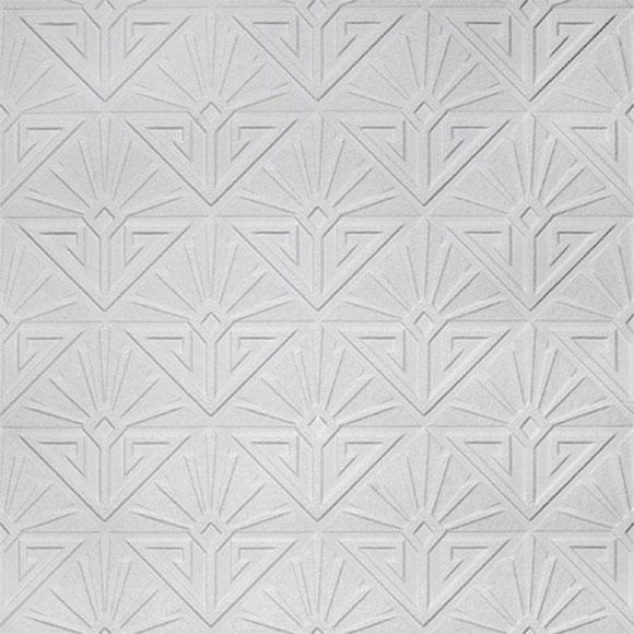 Papier Peint Deco Paradiso Formes Blanches En Relief Art