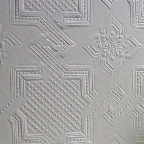 Papier peint seymour formes g om triques blanches peindre - Papier a peindre relief ...