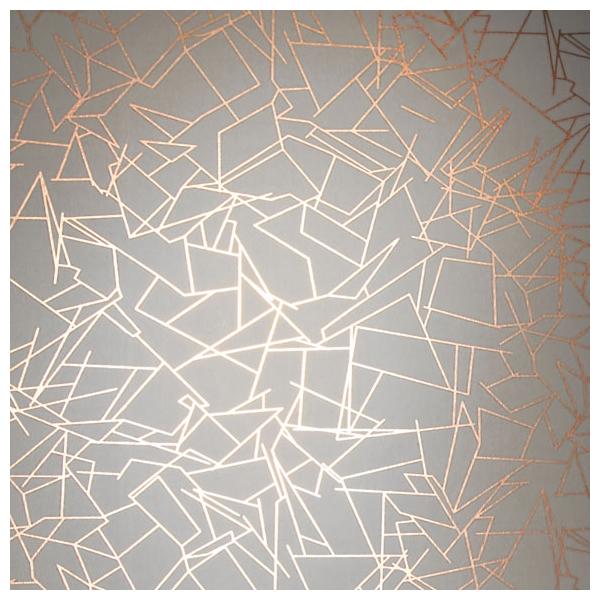 Papier peint angles formes g om triques cuivr es et blanches - Papier peint forme geometrique ...