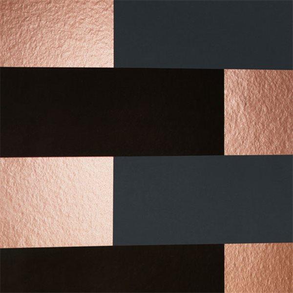 papier peint block blocs noirs gris et cuivr s. Black Bedroom Furniture Sets. Home Design Ideas