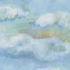 Papier peint - Geneviève Lévy Edition - Nuages blues - Multicolore