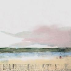 Papier peint - Geneviève Lévy Edition - Tracteur rouge - Multicolore