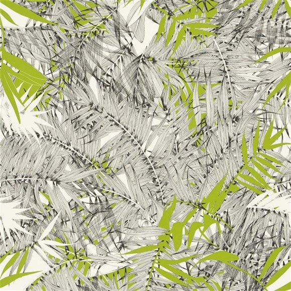 papier peint eden roc amazonie vert noir et blanc palmier. Black Bedroom Furniture Sets. Home Design Ideas