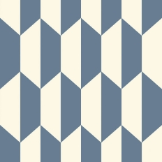 Papier peint - Cole and Son - Tile - Blue & White