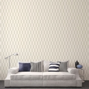 Papier peint - Cole and Son - Tile - White & Stone