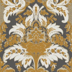 Papier peint - Cole and Son - Aldwych - Black & Gold
