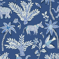 Papier peint - Thibaut - Goa - Blue