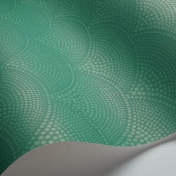 Papier peint - Cole and Son - Feather Fan - Emerald