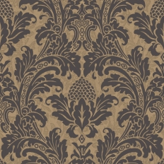 Papier peint - Cole and Son - Blake - Black & Gold