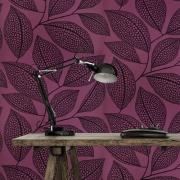 Papier peint - MissPrint - Pebble Leaf - Nightshade