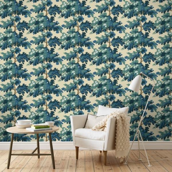Papier peint forêt vert Raphael - Sandberg - Au fil des Couleurs