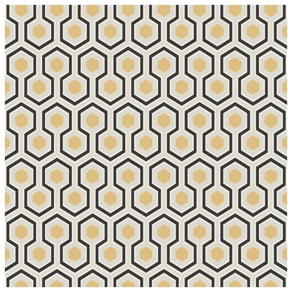 Papier peint dorée et noir - Hick\'s Hexagon