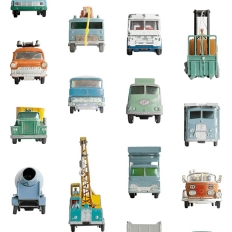 Papier peint - Studio Ditte - Work vehicles