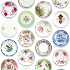 Papier peint - Studio Ditte - Porcelain - Colorful