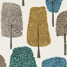 Papier peint - Scion - Cedar - Almond/Cobalt/Midnight