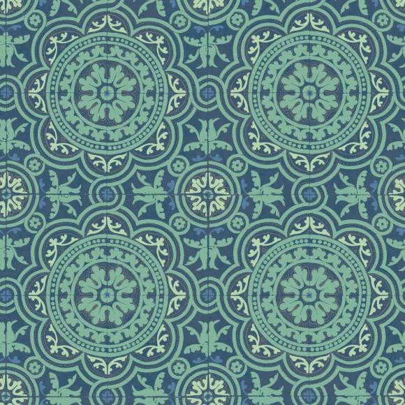 Papier peint oriental vert piccadilly cole and son au fil des couleurs - Papier peint industriel ...