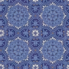 Papier peint - Cole and Son - Picadilly - Blue