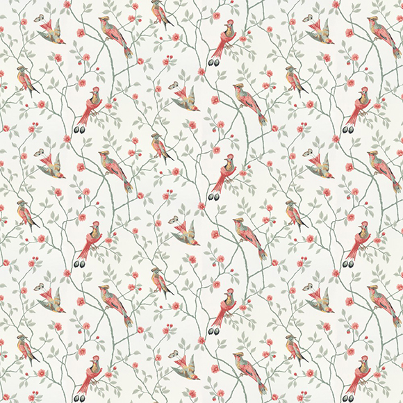 papier peint eugen fleurs branches et oiseaux po tiques. Black Bedroom Furniture Sets. Home Design Ideas