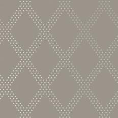 Papier peint - Thibaut - Brad - Silver on Charcoal