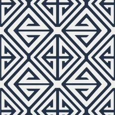 Papier peint - Thibaut - Demetrius - Navy