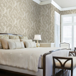 Papier peint - Cole and Son - Ludlow - Taupe & White