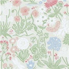 Papier peint - Sandberg - Lotte - Green/Turquoise/Blue