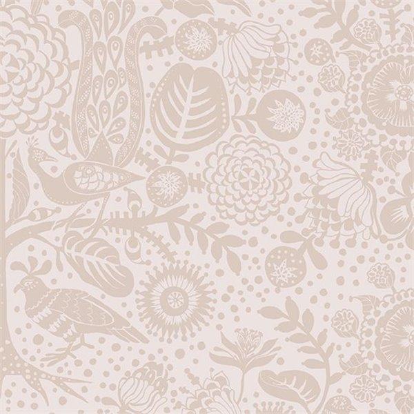 Papier peint mika motifs damas tons roses clairs - Motif tapisserie ...