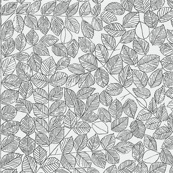 papier peint romans petites feuilles faites de noir et. Black Bedroom Furniture Sets. Home Design Ideas